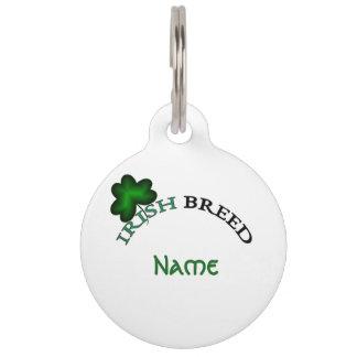 Irish breed-tag pet ID tag