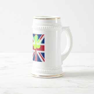 Irish British Flag Shamrock Clover St. Patrick UK Beer Stein