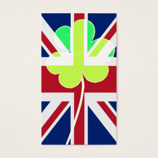 Irish British Flag Shamrock Clover St. Patrick UK Business Card