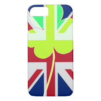 Irish British Flag Shamrock Clover St. Patrick UK iPhone 8/7 Case