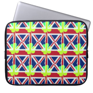Irish British Flag Shamrock Clover St. Patrick UK Laptop Sleeve