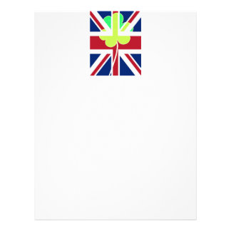 Irish British Flag Shamrock Clover St. Patrick UK Letterhead