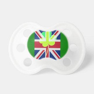 Irish British Flag Shamrock Clover St. Patrick UK Pacifier