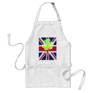 Irish British Flag Shamrock Clover St. Patrick UK Standard Apron