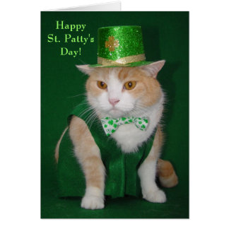 Irish Bubba Kitty Blessing Card