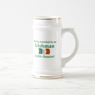 Irish Builds Character 18 Oz Beer Stein