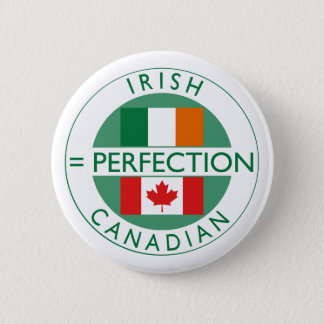 Irish Canadian Heritage Flags 2 Inch Round Button