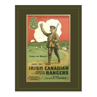 IRISH CANADIAN REGIMENT POSTCARD