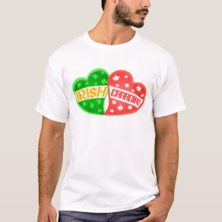 Irish Canadian St. Patrick's Day Heart T-Shirt