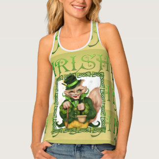 IRISH CAT All Over Print Racerback TankTop 2 Tank Top