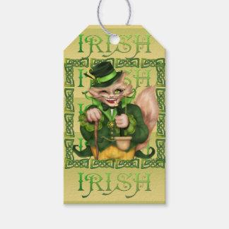 IRISH CAT CARTOON GIFT TAG MATT PACK OF GIFT TAGS