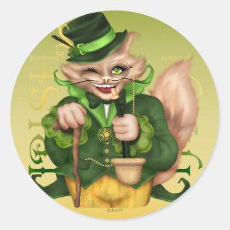 IRISH  CAT CUTE  AutoCollant Square Stickers 2
