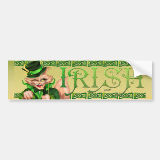 IRISH CAT ST-PATRICK CUTE Bumper Sticker 2