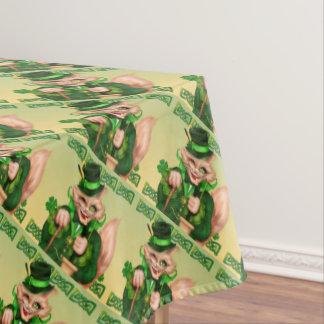"IRISH CAT ST-PATRICK Tablecloth COLOR LIPS 52""x70"""