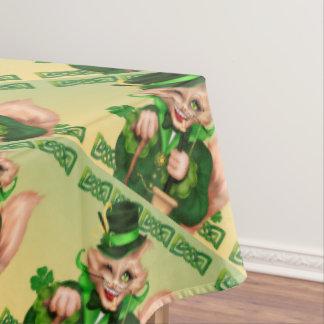 "IRISH CAT ST-PATRICK TableclothCOLOR LIPS 60""x104"" Tablecloth"