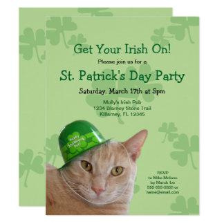 Irish Cat St. Patrick's Day Party Invitations