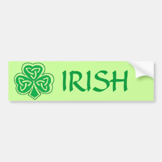 IRISH CELTIC CLOVER BUMPER STICKER
