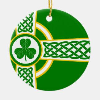 Irish_Celtic_Cross Ceramic Ornament