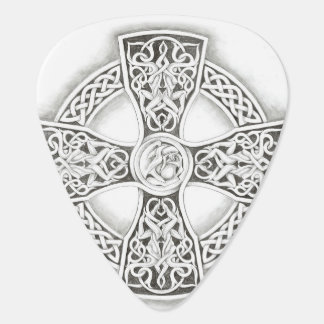 Irish Celtic Cross Fantasy Guitar Pick