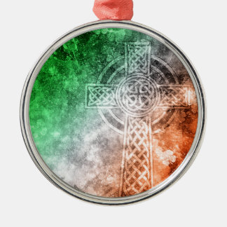 Irish Celtic Cross Metal Ornament