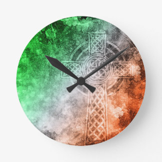 Irish Celtic Cross Round Clock
