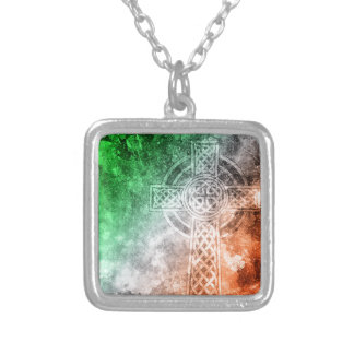 Irish Celtic Cross Silver Plated Necklace