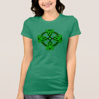 Irish Celtic Cross Women's Jersey T-Shirt