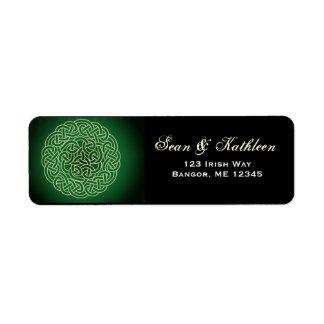 Irish celtic knot address labels