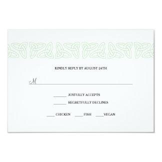 Irish Celtic RSVP reply card 3991