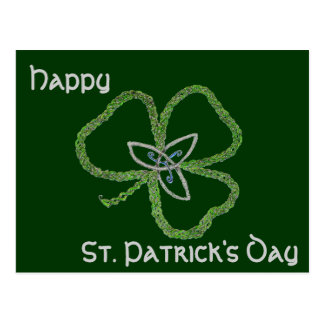 Irish Celtic Shamrock Knot Postcard