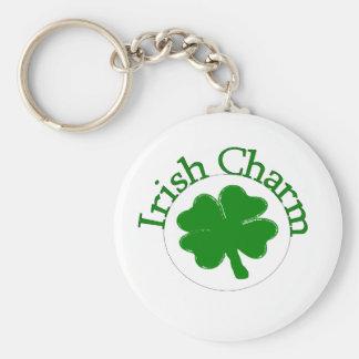Irish Charm Clover Keychain