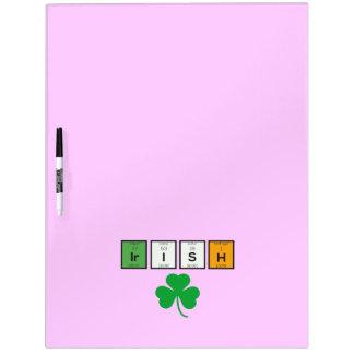 Irish chemcial elements Zc71n Dry Erase Board