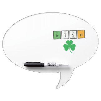 Irish chemcial elements Zc71n Dry Erase Whiteboard