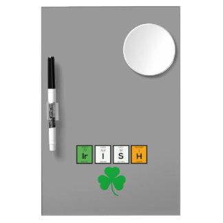 Irish chemcial elements Zc71n Dry Erase Whiteboards