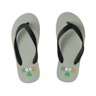 Irish chemcial elements Zc71n Kid's Flip Flops