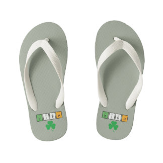 Irish chemcial elements Zc71n Kid's Flip Flops