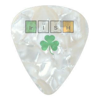 Irish chemcial elements Zc71n Pearl Celluloid Guitar Pick