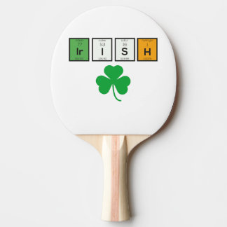 Irish chemcial elements Zc71n Ping Pong Paddle