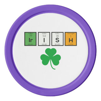 Irish chemcial elements Zc71n Poker Chips