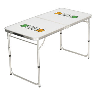 Irish chemcial elements Zy4ra Beer Pong Table