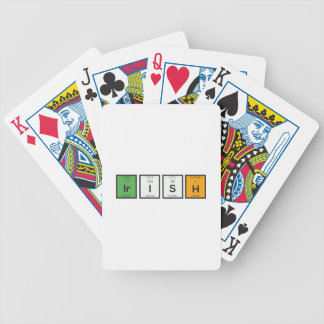 Irish chemcial elements Zy4ra Bicycle Playing Cards