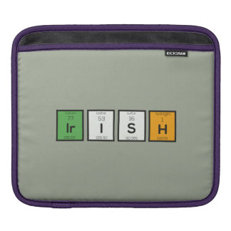 Irish chemcial elements Zy4ra iPad Sleeve