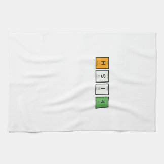 Irish chemcial elements Zy4ra Kitchen Towel