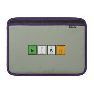 Irish chemcial elements Zy4ra MacBook Sleeve