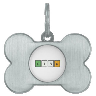 Irish chemcial elements Zy4ra Pet Tag