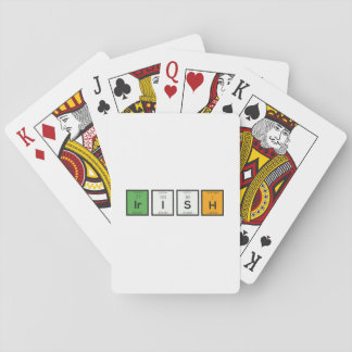 Irish chemcial elements Zy4ra Playing Cards