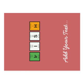 Irish chemcial elements Zy4ra Postcard