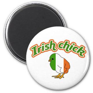 Irish chick 2 inch round magnet