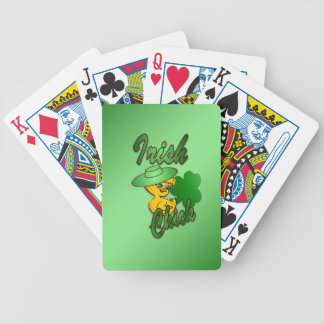Irish Chick in Green Bicycle Playing Cards