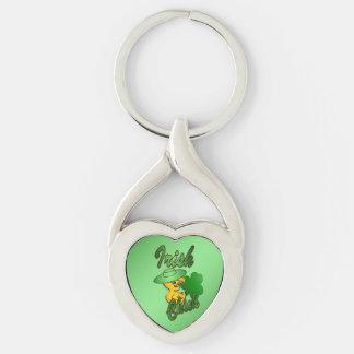 Irish Chick in Green Keychain